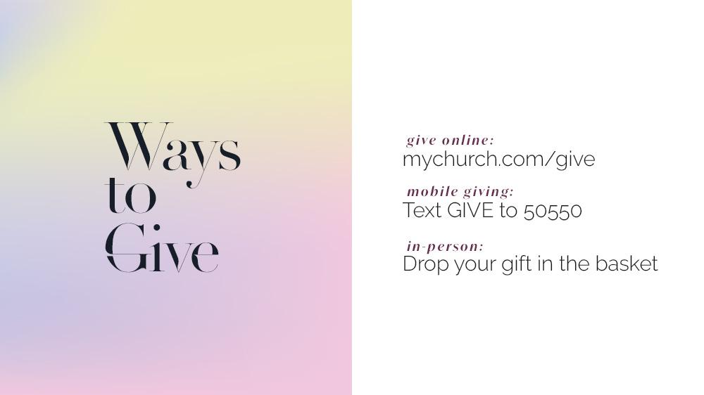 Crma Screen Giving