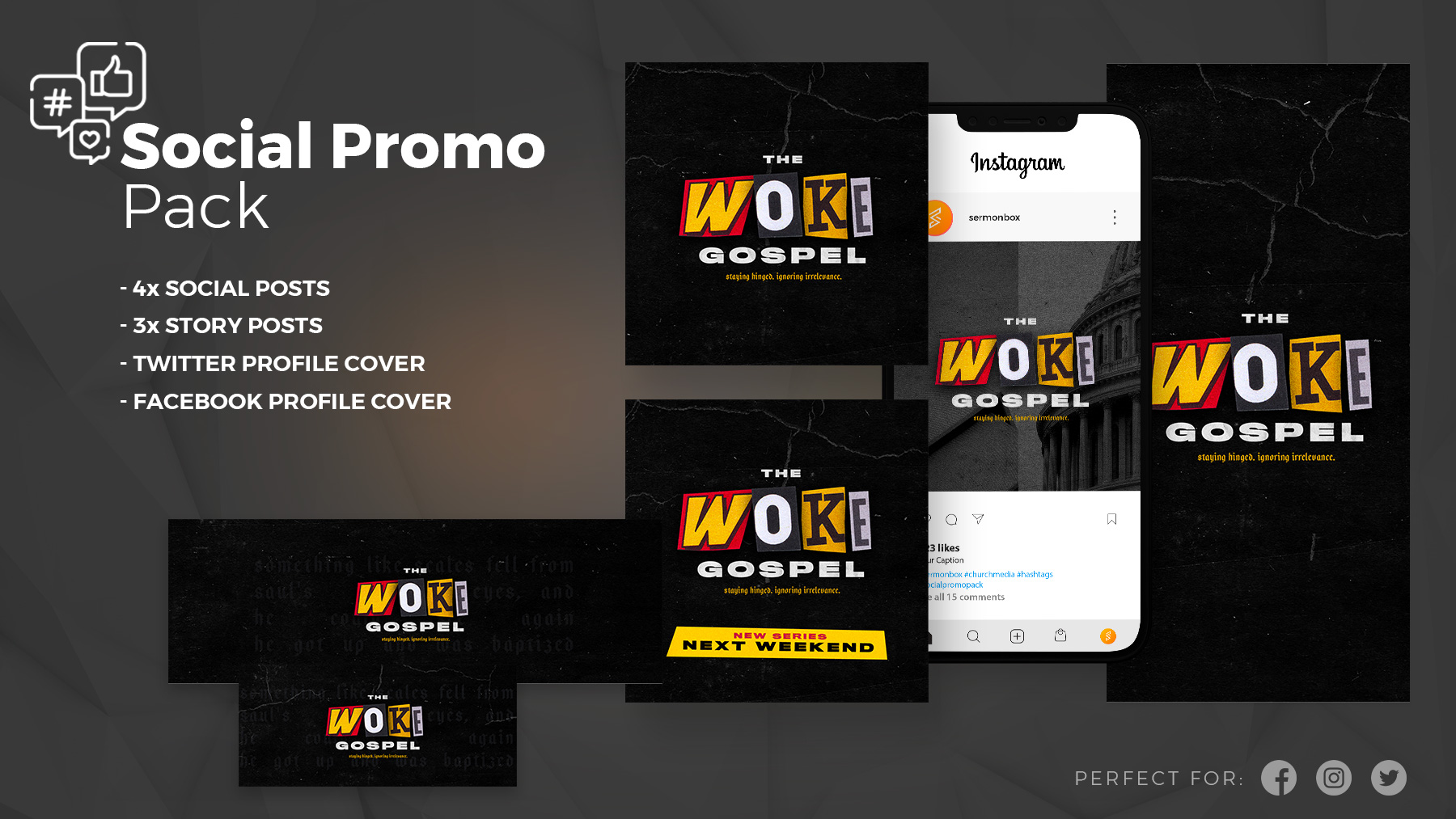 woke social promo