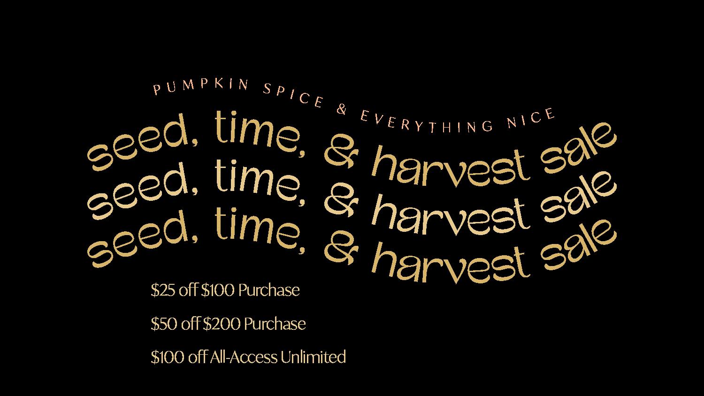 harvest sale text